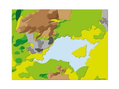 Manzares Real topography´s topography illustrator illustration illu map