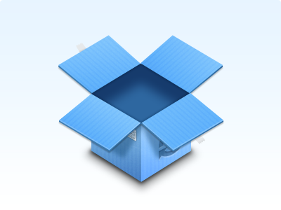 Dropbox  woah a dropbox icon that has never been done before leet mlg