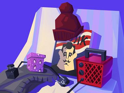 Munch still life book illustration gradient picture vector minimal illustrator illustration flat