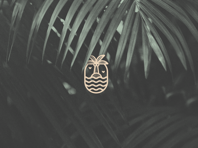 Project Calm logotype calm tropical palm tree mark brand identity logo brand