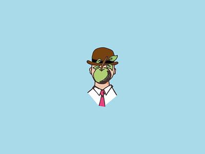 O Filho do Homem illustration magritte art illustrator vector