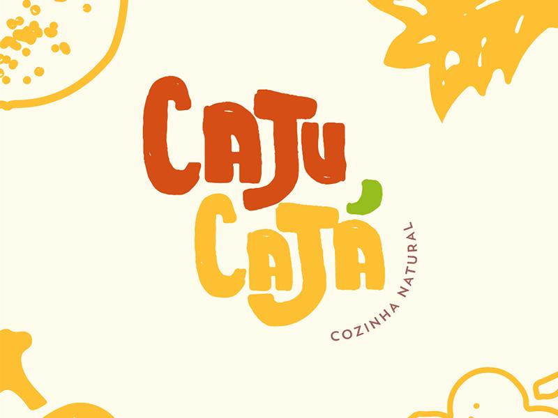 Caju Cajá mark natural fruit food texture illustration