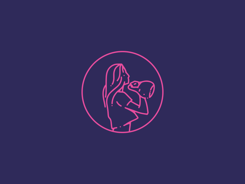 Priscila Nunes - Personal Trainer line girl power personal trainer gym fitness mark logo