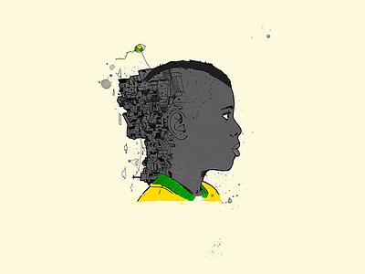 A Partida do Menino Neimar neymar brazil soccer typography logotype texture digital illustation