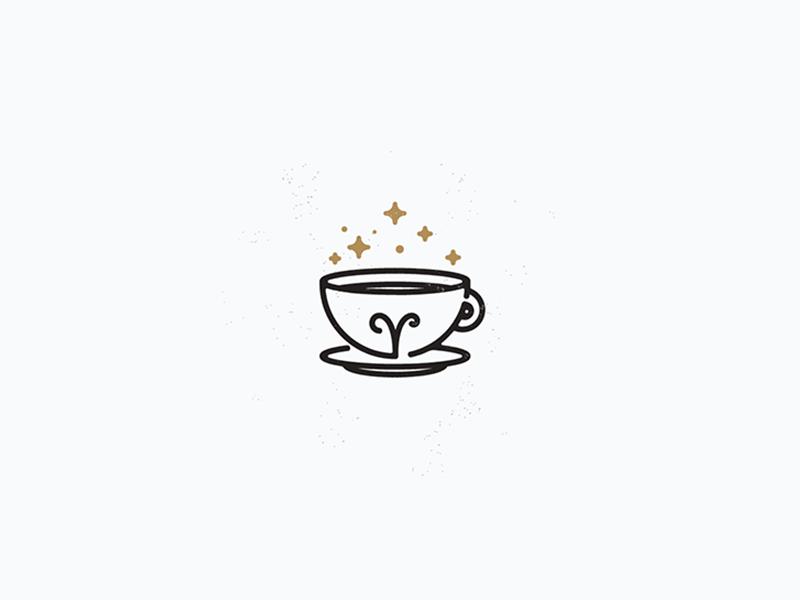 Áries Coffee Shop line art icon atrology space aries magic shop coffee vector