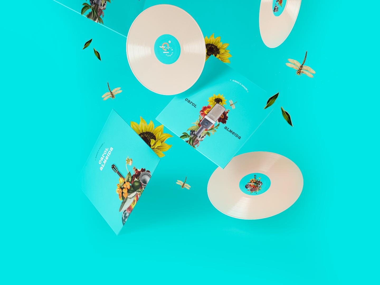 Carol Almeida Brand girl flower music collageart branding design brand