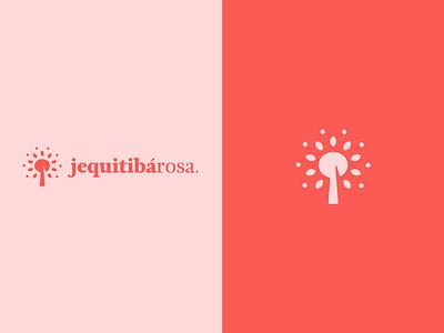 Jequitibá Rosa women tree logotype branding logo mark