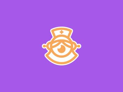 Aidê vector illustration nurse robot logo design logodesign logotype logo branding
