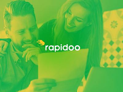 Rapidoo digital design brand coin money logotype logo mark speed
