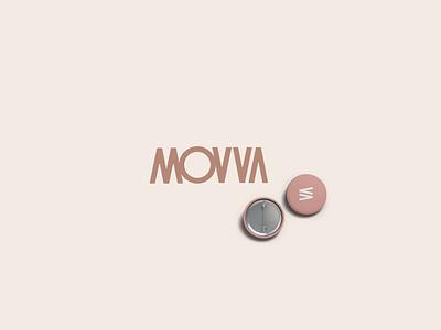 Movva logo icon digital branding movement fitness arrow brand mark vector