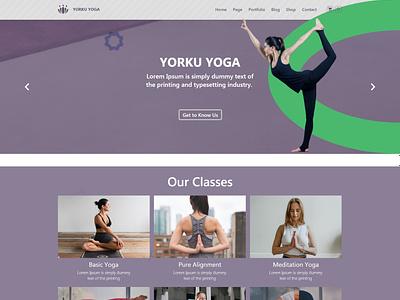 Yoga Landing Page Design website design web page landing page ecommerce uxdesign uidesign template customizable