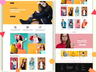 eCommerce Online Shopping Landing Page Template ecommerce shop online shop landing page ux website userexperience websitedesign uxdesign uidesign template ui customizable