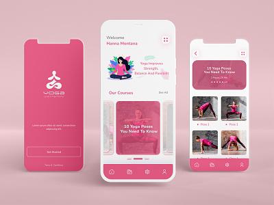 Yoga Mobile Apps ux modernapp appstemplate meditation yogaapps yoga apps mobileapp yoga class website uidesign uxdesign template ui