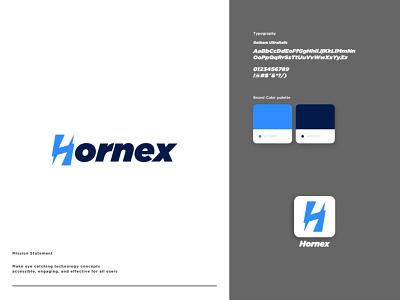 H Letter + Hornex Logo Design logos websitedesign typography vector logo template logotype businesslogo companylogo graphic design photography logo logo design website customizable template uidesign ui uxdesign