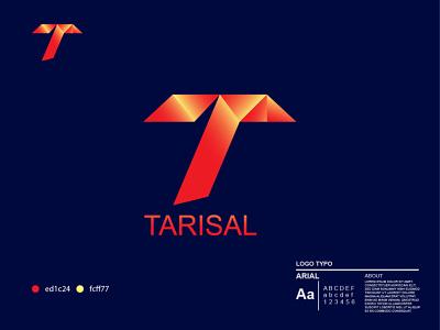 T Letter + Tarisal Logo Design. illustration design ui customizable template uidesign uxdesign logotemplate logobrand companylogo businesslogo tylogo printinglogo logotype logos branding logo website graphics