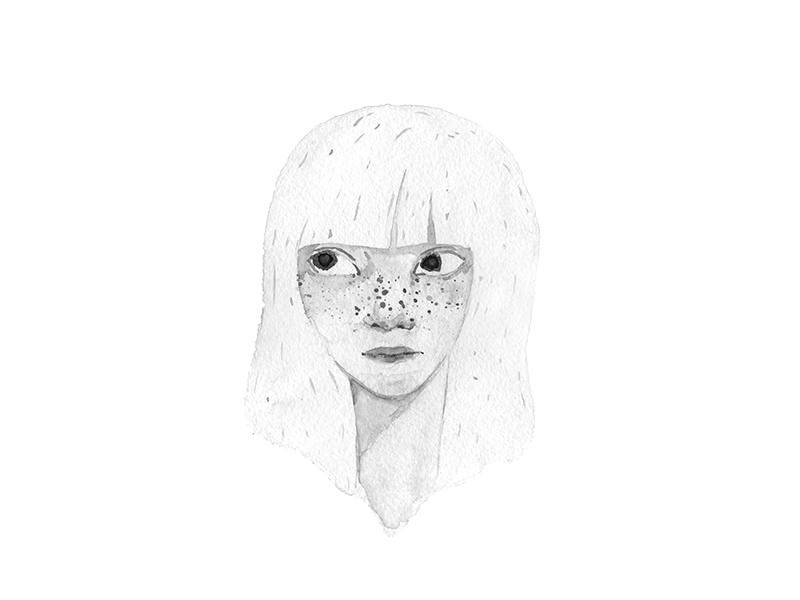Frecklygirl bw
