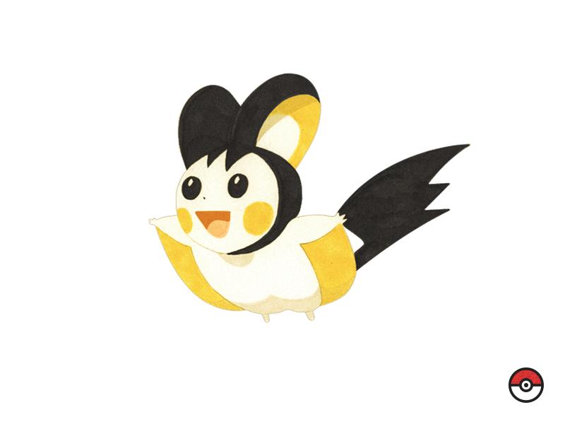 Emolga Pokémon pokedex illustration pokemon emolga