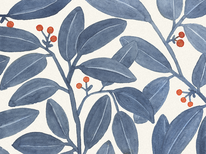 Floral pattern. Blue leaves wallpaper fabrics spring leaves blue botanical watercolor illustration pattern floral