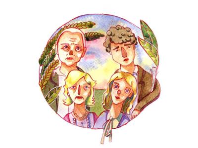 Illustration on Woody Allen movie