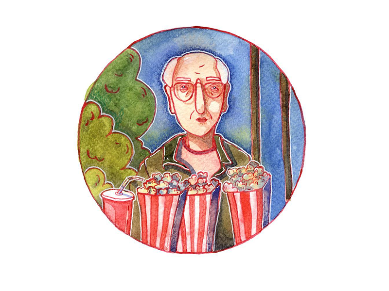 One more illustration on Woody Allen movie 🍿 pen art sticker man old film movie poster watercolour texture characters illustrations