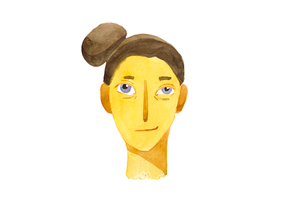 I'm Bizarreamie! new sunny watercolor illustration face picture profile shot avatar ava me i
