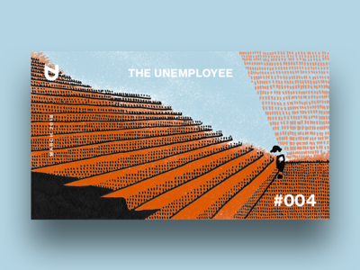 Illustration for Unemployee.by texture rust dots cover markers illustration editorial magazine unemployed unemployee