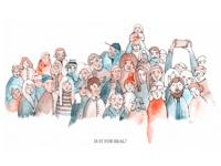 Watercolor crowd