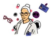 Need a Doctor? digital shapes blood chemistry medical pen illustration ipadpro procreate line doctor