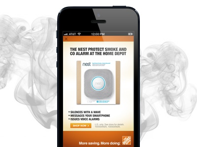 Home Depot Mobile Ad ad rich media mobile ad fullscreen html 5 adcade responsive interactive ad hoe depot