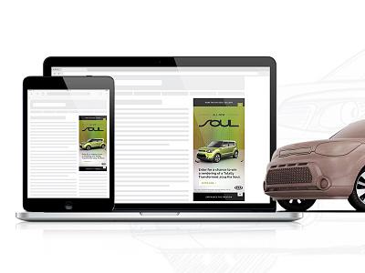 2014 Kia Soul Filmstrip Ad ad rich media filmstrip slider interactive ad advertising adcade html 5 iab kia cars 360