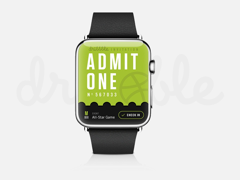 Apple watch dribbble invites