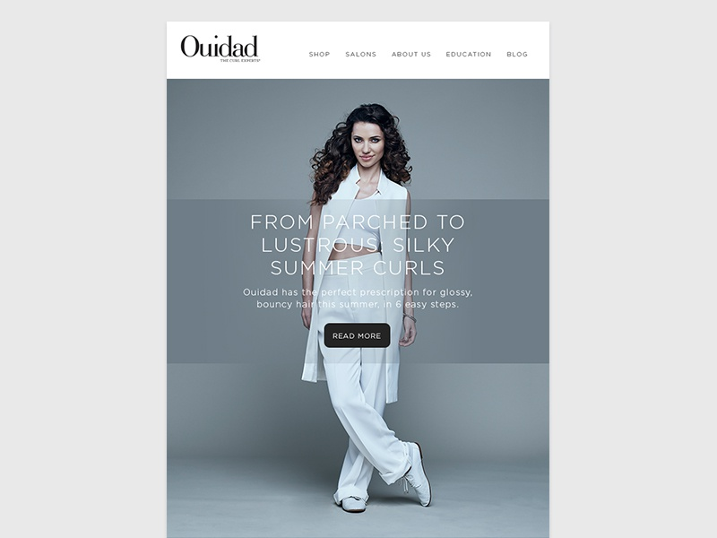 Ouidad email design 2