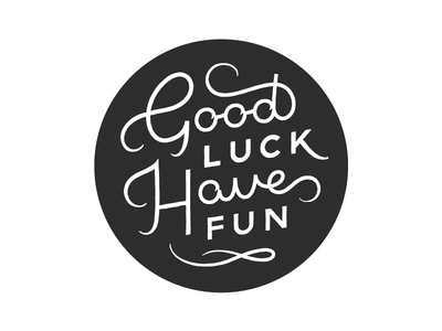 GLHF good luck have fun video games glhf gamer typography type lettering illustration handlettering