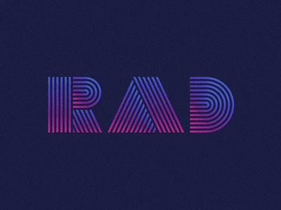 80's inspired type gradient retrowave 80s rad typography lettering type