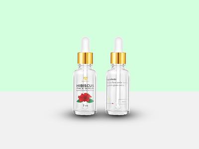 Product bottle label graphic design