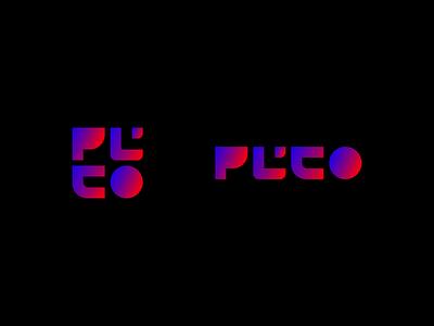 PLUTO Logo pluto logo brand branding logotype identity symbol illustration design brand design