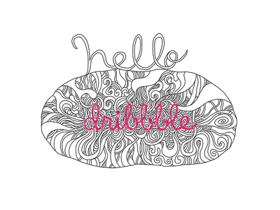 Hello Dribbble~!! doodle line drawing pen drawing illustration