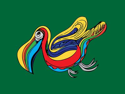 bird adobe capture line drawing pencil drawing tropical bird illustration doodle