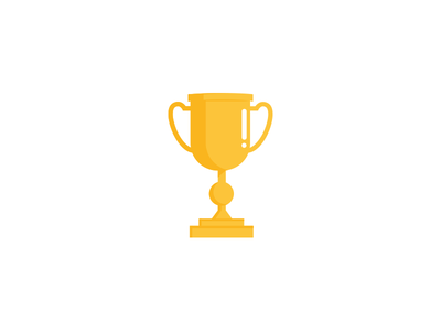 Gold trophy winner game sports win top first