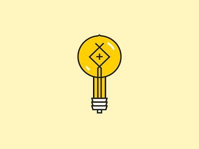 Possible logo mark logo lightbulb old mark yellow retro electric light illustration line