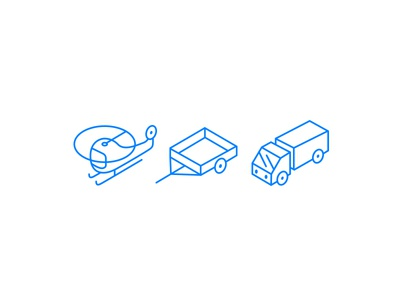 isometric icons icons isometric helicopter truck