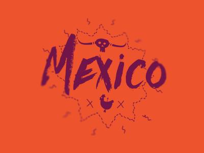 Mexico Stamp tex-mex taco food chicken orange print badge stamp