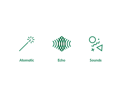 Sound startup icons tech sound echo magic icon startup