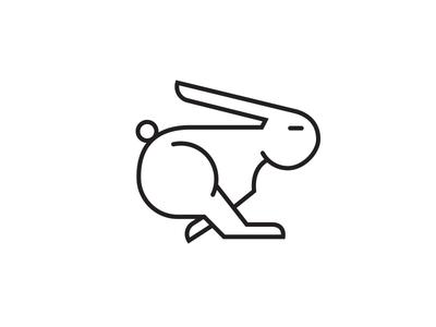 That Fast simple rabbit minimalistic illustration icon clean
