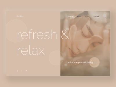 Beauty Spa Web Concept light minimalism 2021 trend ux modern minimal brand concept calm soft design figma ui clean ui relax spa beauty web design website web