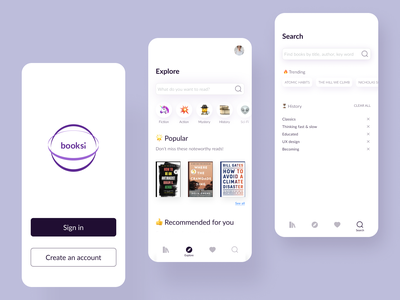 Ebook App Concept brand minimal modern simple clean ui user interface design learn education read concept reading app reading ebook user interface mobile figma app ux ui design