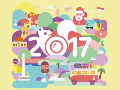 2017 Calendar Illustrations