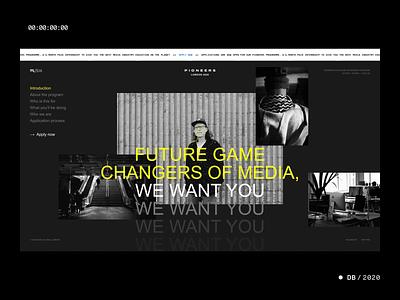 Pioneers pioneers wpp recruitment hiring msix resume cv motion slick techno caps gray grey yellow blue black