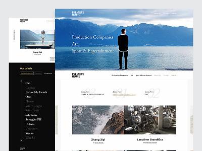 Première Heure premiere heure video production company white minimal ui gold