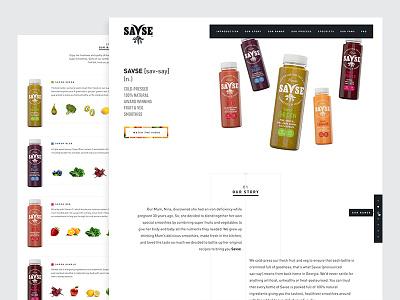 Savse Smoothies savse smoothie fruit vegetable drink white minimal ui story long scroll juice